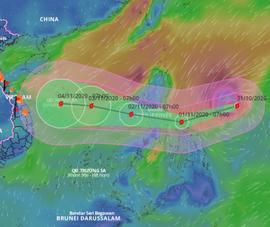 Siêu bão Goni mạnh cấp 17 đang ở gần Biển Đông