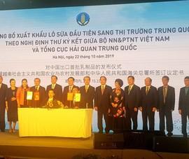 Thêm một công ty Việt được xuất khẩu sữa sang Trung Quốc
