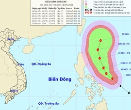 Các tỉnh sẵn sàng ứng phó, đề phòng siêu bão Surigae đổi hướng