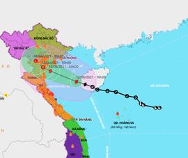 Bão số 2 cách Hải Phòng-Nghệ An 210km, 5 tỉnh cấm biển