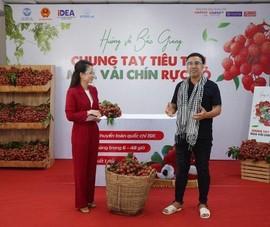 90 phút livestream, nghệ sĩ Quyền Linh bán được 161 tấn vải thiều