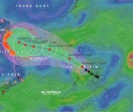 Bão Chanthu cấp 13-14 tác động tới bão Conson thế nào khi cách xa 1.100 km?