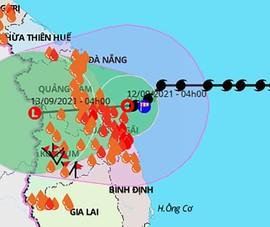 Bão số 5 thành áp thấp nhiệt đới trên vùng biển Đà Nẵng - Bình Định