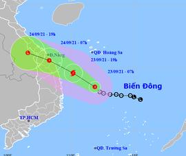 Áp thấp nhiệt đới di chuyển nhanh, cách bờ biển Bình Định, Phú Yên 280km