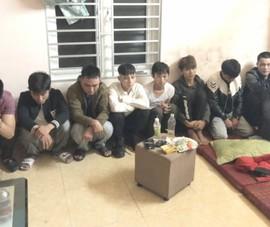 Phát hiện 9 thanh niên 'phê' ma túy bay lắc ở nhà riêng