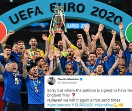 Tuyển Anh đá lại chung kết Euro 1.000 lần cũng thua Ý
