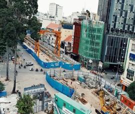 Thi công tái lập ga Nhà hát TP.HCM thuộc metro số 1
