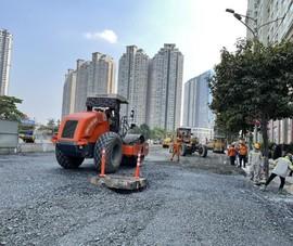 Cận cảnh hai công trình thi công xuyên Tết