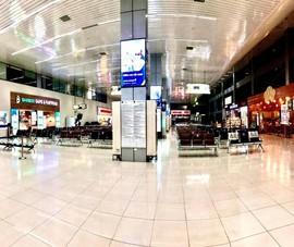 Sân bay Nội Bài vắng hoe