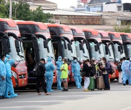 1.500 người dân Phú Yên, Đắk Lắk và Kiên Giang tiếp tục về quê
