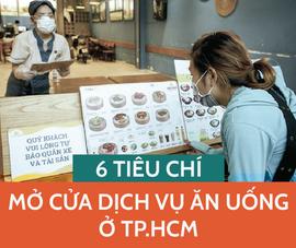 Infographic: 6 tiêu chí mở cửa dịch vụ ăn uống ở TP.HCM