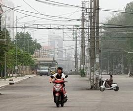 Cột điện 'bẫy' người đi đường ở thành phố Sầm Sơn