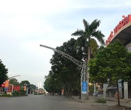 Vắng lặng ở TP Thanh Hóa trong ngày đầu giãn cách  xã hội theo Chỉ thị 16
