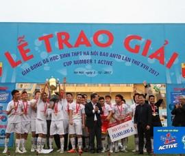 Giải bóng đá học sinh: Trận chung kết nghẹt thở