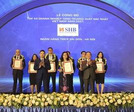 SHB: Top 50 doanh nghiệp tăng trưởng xuất sắc nhất Việt Nam