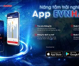 Khách hàng theo dõi chỉ số điện mọi lúc với app EVNHANOI