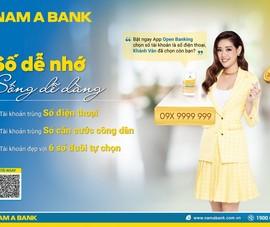 Sở hữu tài khoản số đẹp với nhiều ưu đãi tại Nam A Bank