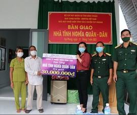 Nhiệt điện Vĩnh Tân cùng đóng góp xây nhà tình nghĩa quân dân