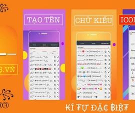 Sử dụng biểu tượng cảm xúc Facebook, Zalo, Game, tạo tên đẹp với symbols.vn
