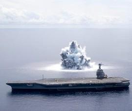 VIDEO: Mỹ tạo vụ nổ như động đất để thử 'sức chịu đòn' của tàu sân bay