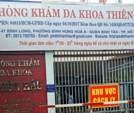 Quận Bình Tân tạm ngưng 1 phòng khám do liên quan 2 ca nhiễm COVID-19