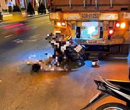 Thanh niên lao xe máy vào đuôi container đang đỗ, tử vong