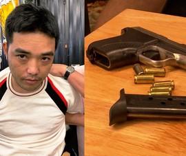 Người đang bị truy nã thủ súng trong người khi đi nhậu ở quán