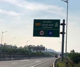 VEC chậm đổi biển báo tốc độ ở cao tốc Đà Nẵng – Quảng Ngãi