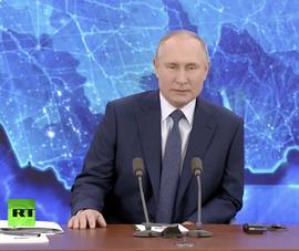 Ông Putin bắt đầu cuộc họp báo cuối năm trực tuyến nhiều giờ