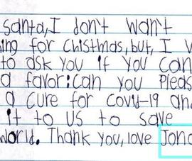 Rơi nước mắt với thư trẻ con: 'Ông già Noel, xin hãy giúp đỡ!'