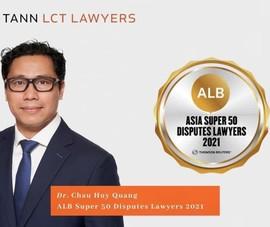 1 luật sư Việt Nam vào Top 50 Siêu luật sư Châu Á
