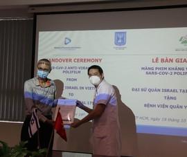 Bệnh viện Quân Y 175 tiếp nhận màng phim chống virus do Isarel sản xuất