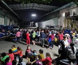 Hàng trăm công nhân trắng đêm đòi lương, bảo hiểm