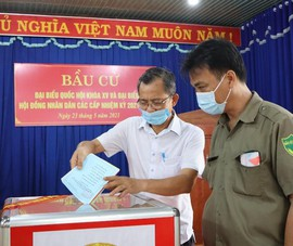 Bình Phước: Tỉ lệ cử tri đi bầu cử đạt 99,97%