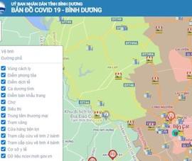 Bình Dương đưa bản đồ thông tin dịch COVID-19 vào hoạt động