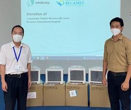 Tập đoàn Sembcorp hỗ trợ thiết bị y tế và tiền cho Việt Nam chống dịch