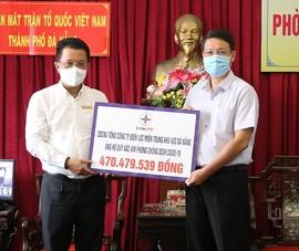 EVNCPC tiếp tục ủng hộ 470 triệu đồng, tặng máy đo thân nhiệt để chống dịch