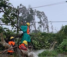 401.875 khách hàng bị mất điện vì bão, EVNCPC vượt mưa lũ sửa chữa cho dân