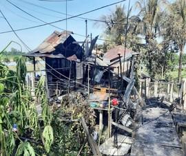 Sau tiếng nổ lớn, 7 căn nhà ở An Giang bị thiêu rụi