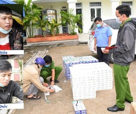 Ô tô chở thuốc lá lậu bị bắt tại chốt kiểm dịch Trà Vinh