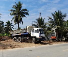 Nhà thầu thi công vỉa hè QL60: Có thất thoát đất