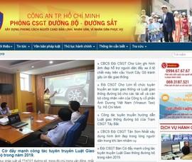 CSGT TP.HCM có trang thông tin điện tử để tương tác với dân