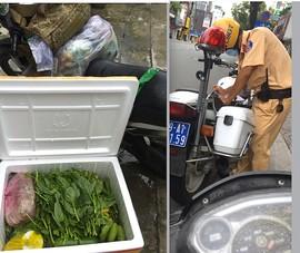 CSGT làm việc với người đăng Facebook 'bị phạt vì đi nhận thùng rau'