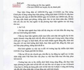 Bà Rịa - Vũng Tàu: Chỉ đạo khẩn về phòng, chống COVID-19