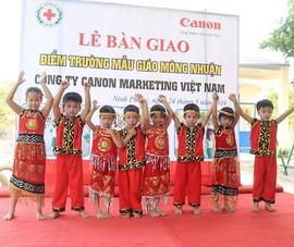 Canon trao tặng phòng học mới cho các trường mầm non khó khăn