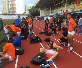 Clip buổi tập của U-22 Malaysia trước trận ra quân SEA Games