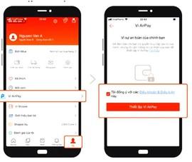 Shopee tích hợp phương thức thanh toán ví AirPay