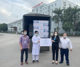 La Vie hỗ trợ nước khoáng cho Hải Dương, Quảng Ninh chống dịch