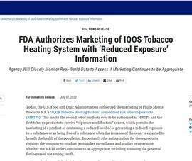 Thuốc lá làm nóng nào đang được FDA chấp thuận?