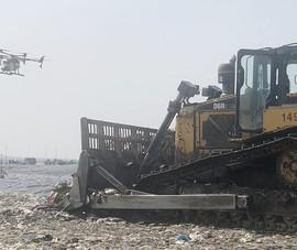 VWS sử dụng thiết bị không người lái phun khử mùi bãi rác